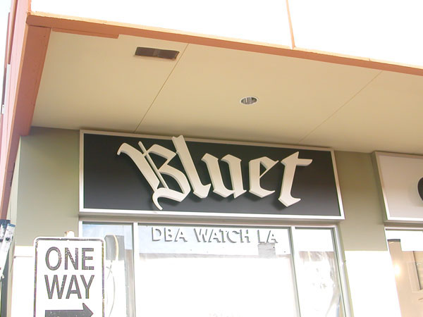 channel letters signage - Bluet