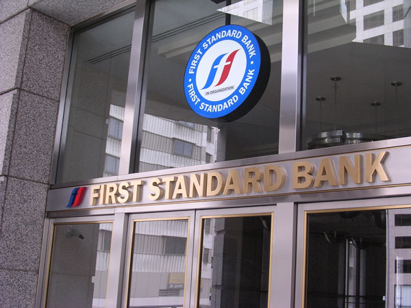 3D Letters Sign - First Standard Bank
