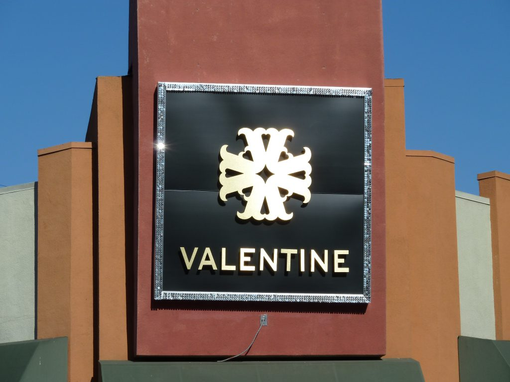 channel letters sign - Valentine