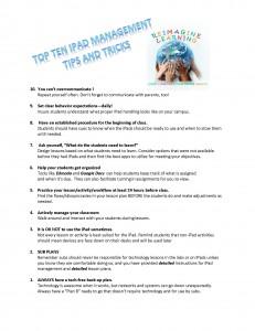Top Ten iPad Management Tips and Tricks