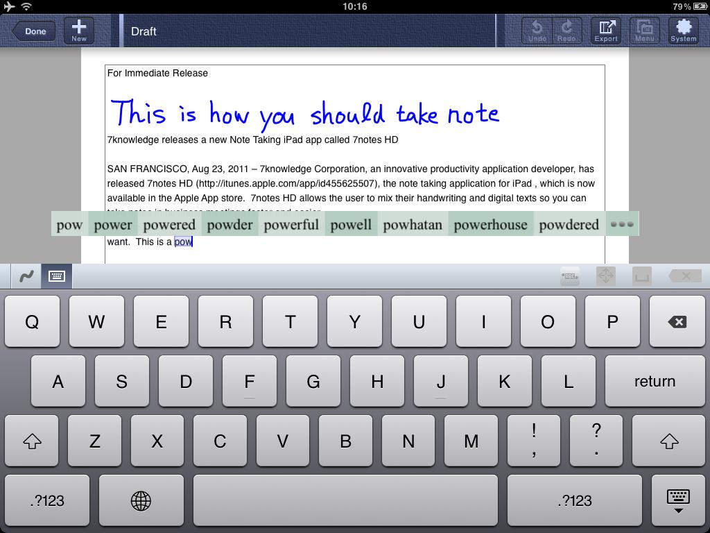 Writing Process on the iPad