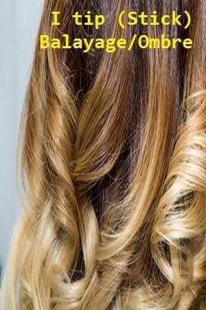 Balayage/Ombre Color I tip (Stick) Hair Extensions