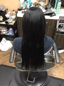 Hair weft # 1 - After