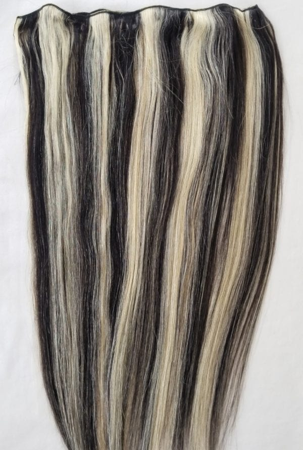 weft weave hair extensions #1B/613