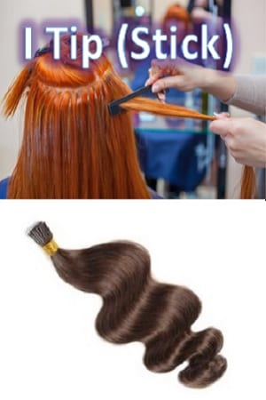 I Tip (Stick Tip) Beaded Hair Extensions