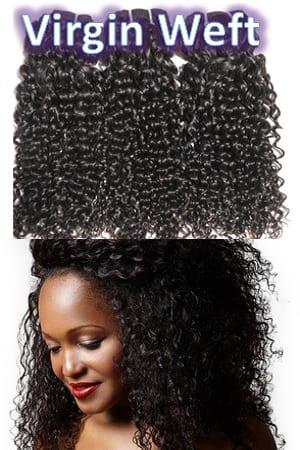 Virgin Unprocessed Weft Hair Extensions