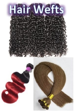 Machine, Hand Tied & Virgin Wefts Hair Extensions