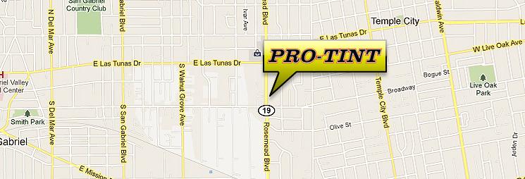 ProTint Shop Location Map