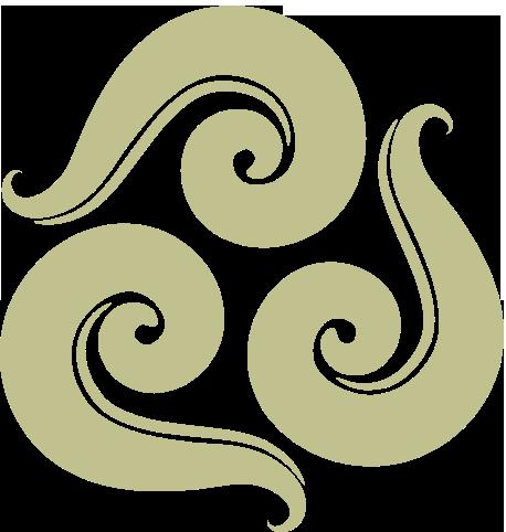 Swirl Logo tan