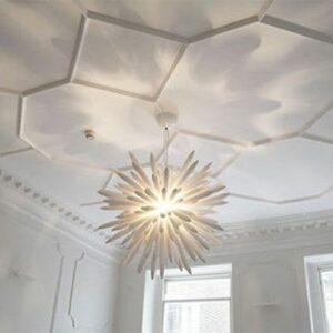 hexagonal-ceiling-molding