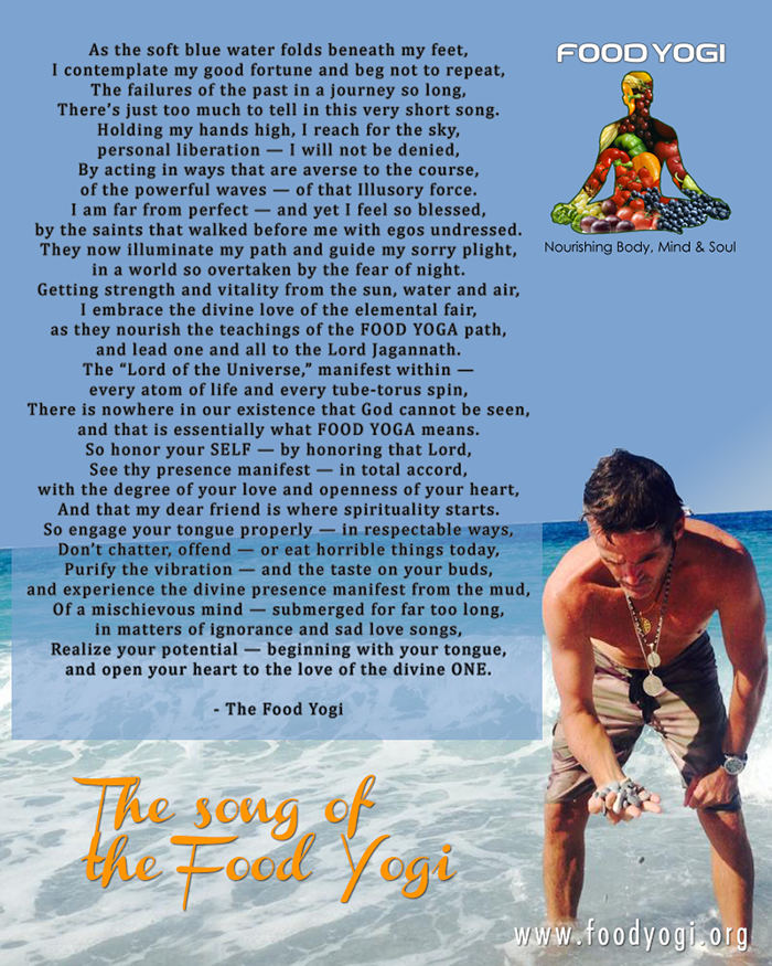 The Song of the Food Yogi (POEM)