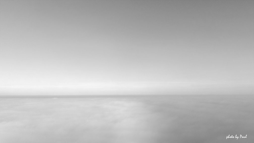 Above The Fog - B&W