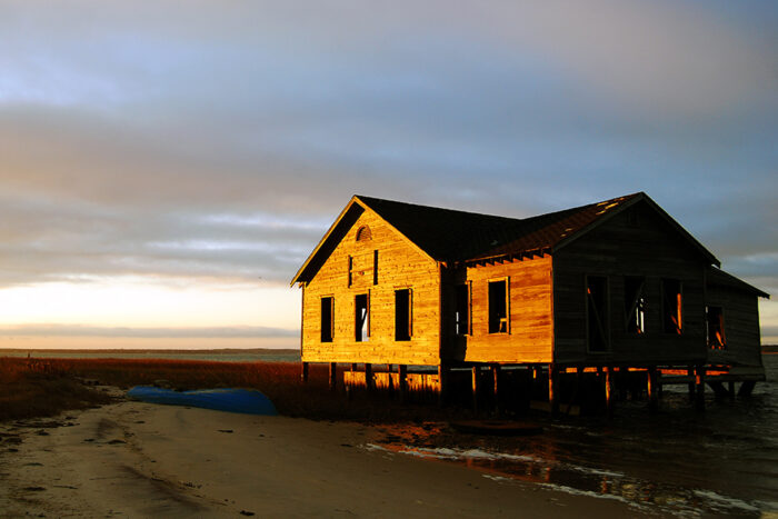 Sunset On The Boat House