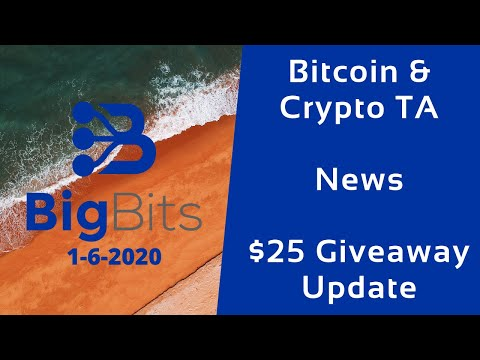 Bitcoin & Crypto TA – News – $25 Giveaway Update – 1-6-2020