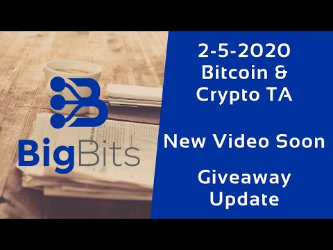Bitcoin & Crypto TA – New Video Soon – $25 Giveaway Update – 2-5-2020