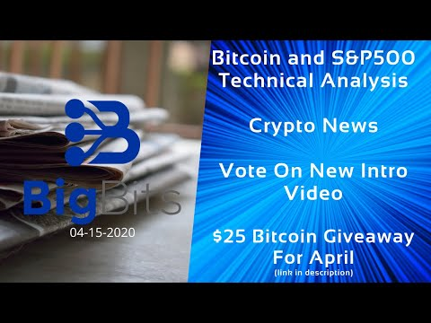 Bitcoin and S&P500 Technical Analysis – Crypto & CBDC News – Vote On Intro – Giveaway – 4-15-2020