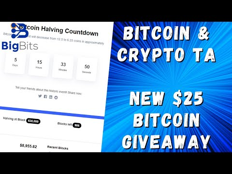 Bitcoin & Crypto TA – New $25 Bitcoin Giveaway – 5-5-2020