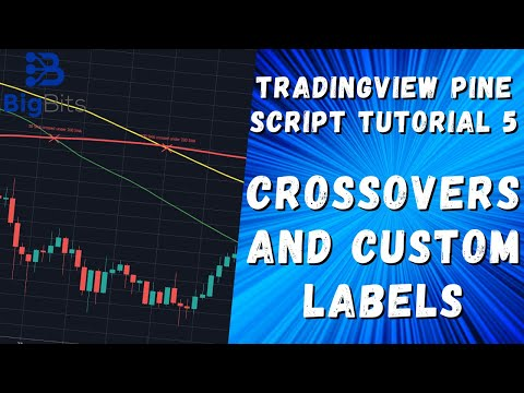 TradingView Crossovers and Custom Labels – Pine Script Tutorial 5