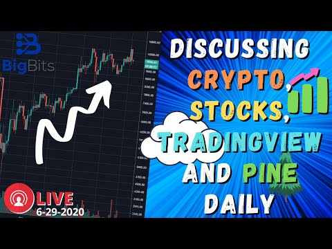 Discussing Crypto, Stocks, TradingView and Pine Daily – 6/9/2020