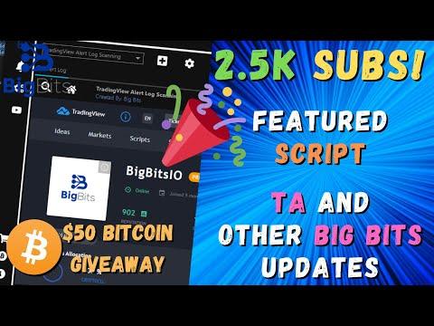 New Featured Script – 2.5k Sub Celebration – TA and Big Bits Updates – New Giveaway!