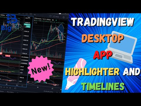 TradingView Desktop Application – New Timelines and Highlighter Drawing Tool!