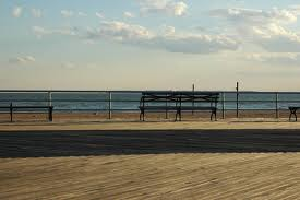 Boardwalk with transcendant and present, if not now visible, occupant.
