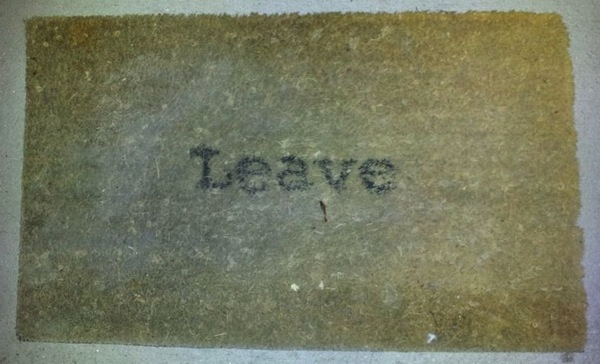 F. Theresa's abused doormat.