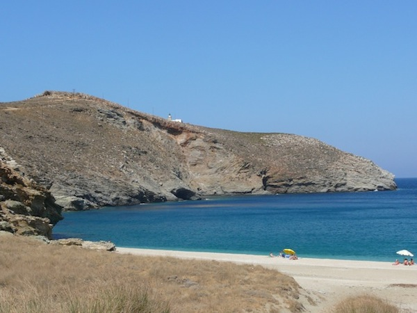 Ahla Beach, not nearby, but one of the island's prettiest.