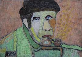 """Man Smoking a Pipe,"" by Henia Alkozer."