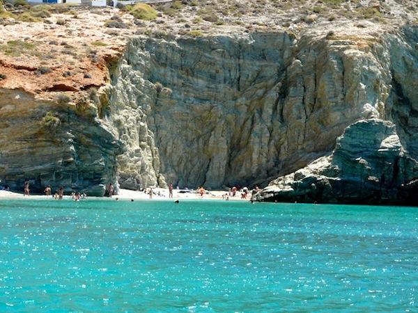 Typical Folegandros beach.