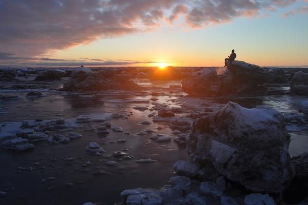 Cold, cold Kincaid Park, Anchorage, Alaska.