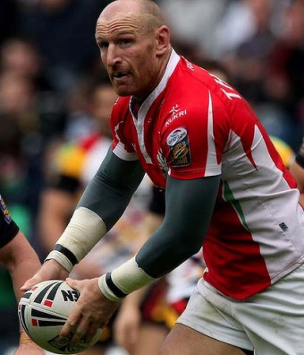 Gareth Thomas, the only gay professional rugby player to have come out while playing.