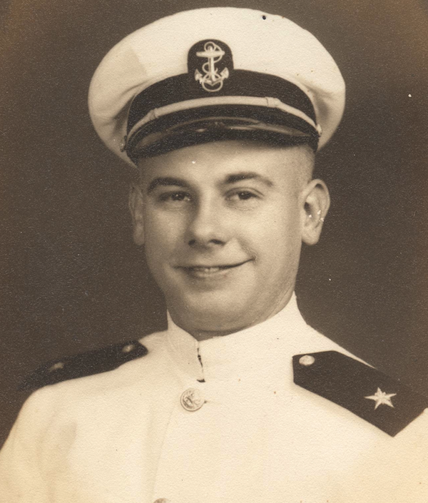 The younger brother in 1944, not yet married.