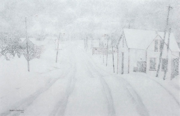 """Raging Blizzard,"" Oil on Canvas, 20"" X 30"" (2006)."