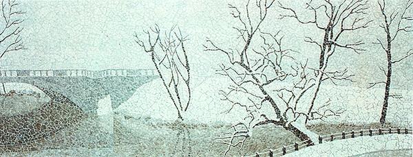 """The Charles,"" Eggshell Mosaic, 13"" X 34.5"" (1975)."