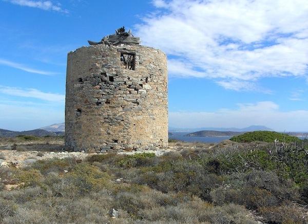 Iraklia's windmill.