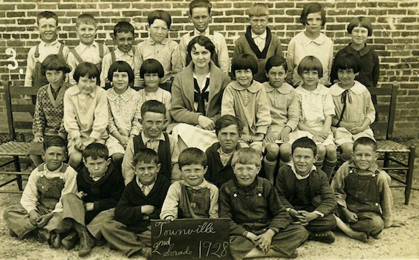 Beth Boleman, mother of Elizabeth Boleman-Herring, wearing a black neck-bow: seated, second row, far right.