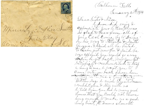 Late 19th-c correspondence in my extended Smith, Boleman and Shirley family.