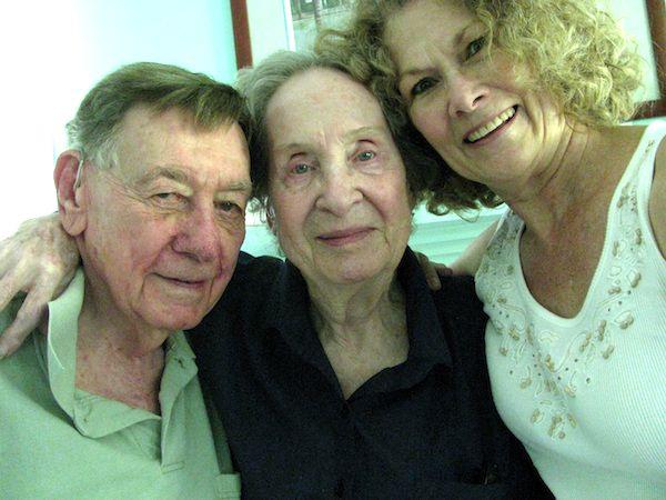 Bill and Betty Balk with Sharyn Chrystal Vogel, c. 2005.