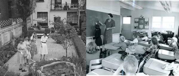 Snapshots of demotic Chicago, mid-century.