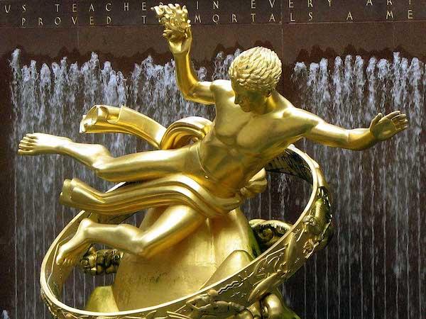 "Photo: ""Prometheus,"" by Paul Manship, Rockefeller Center, New York."