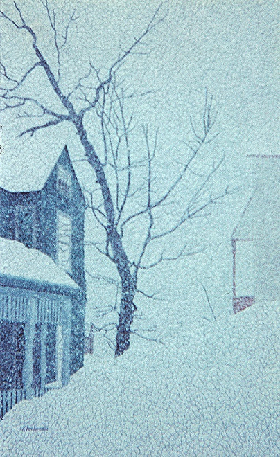 """After the Blizzard of '78,"" Eggshell Mosaic, 26"" X 16"" (1978)."