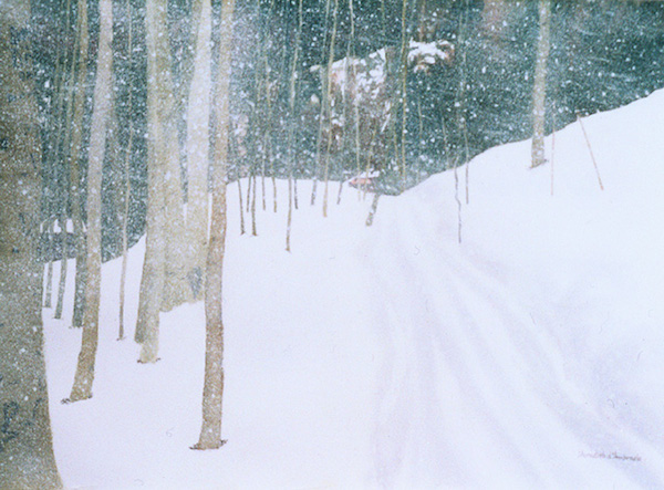 """Taos Snowstorm,"" Watercolor, 21.5"" X 29.5"" (2003)."