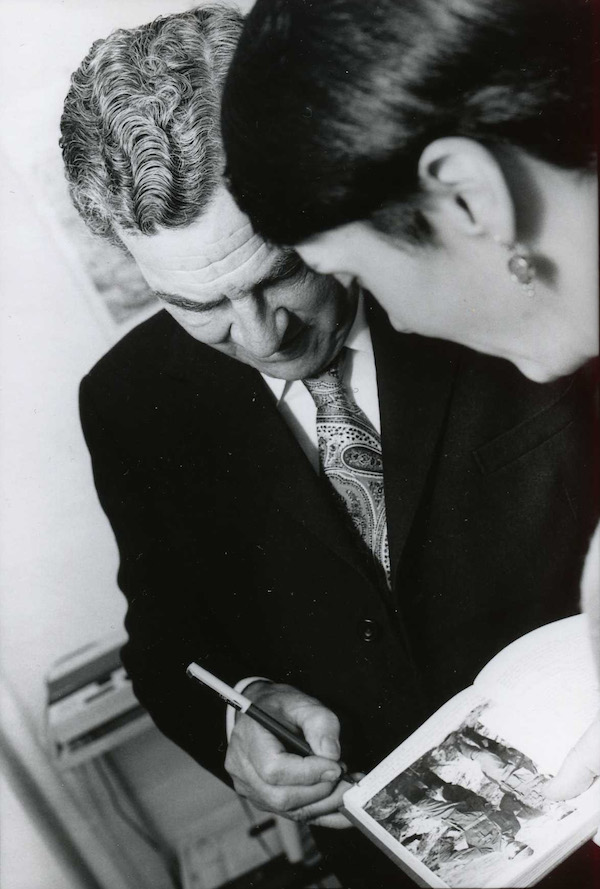 Patrick Leigh Fermor and the author.