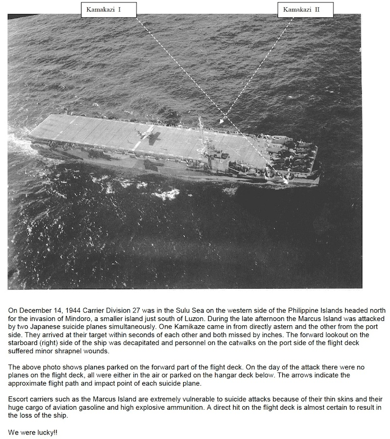 Kamikaze carrier attack.