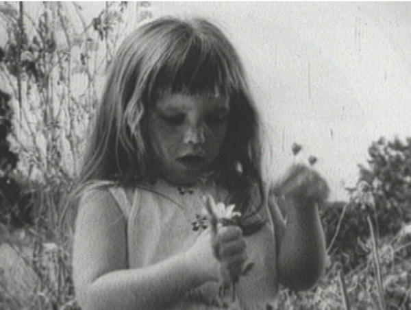"""Still from the """"Daisy Ad,"""" produced for the 1964 Johnson presidential campaign; aired only once. Walter Mondale used a similarly-themed television advertisement in 1984."""