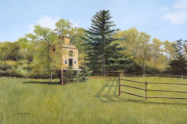 """Duxbury Treehouse"", Oil on Linen, 24"" x 36"" (2015)"