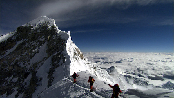 The upper reaches of Everest are known as the Death Zone.