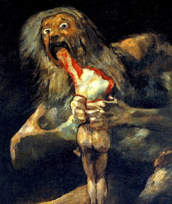 """Saturno devorando a un hijo,"" by Francisco Goya."