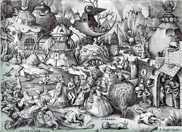 """""""The Seven Deadly Sins or the Seven Vices,"""" by Pieter Bruegel the Elder."""